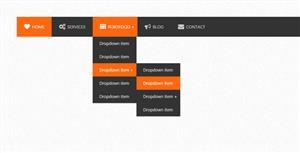 响应式jQuery多级导航菜单插件