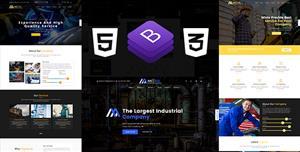 大气机械工业工厂官方网站HTML模板
