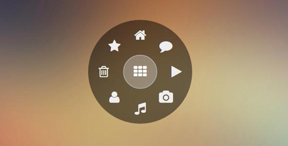 JS点击按钮弹出环形菜单插件