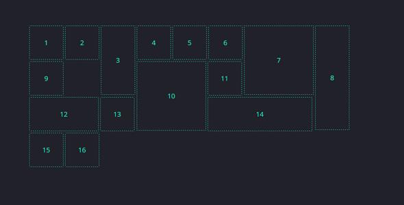 jQuery杂乱排列网格布局插件