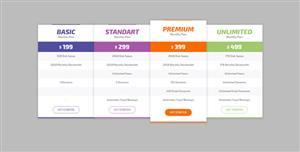纯CSS3分类价格表样式代码