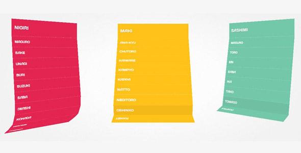 CSS3炫酷下拉菜单折叠立体效果