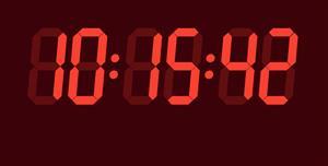 模拟led钟表特效