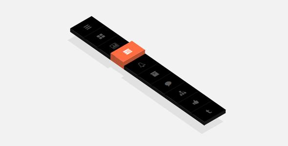 纯CSS3图标菜单倾斜3d立体