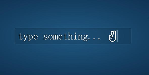 CSS3输入框自动打字效果input动画