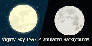 CSS3夜晚月空网页背景视差动画