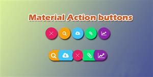CSS3可展开按钮菜单材料设计Material Design