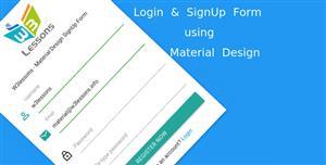 Material Design注册登录界面表单代码