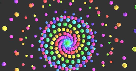 canvas弹性小球动画html5代码