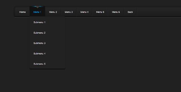 科技感纯CSS3导航下拉菜单代码