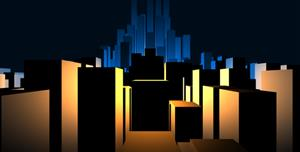 canvas实现3D城市模型动画html5代码