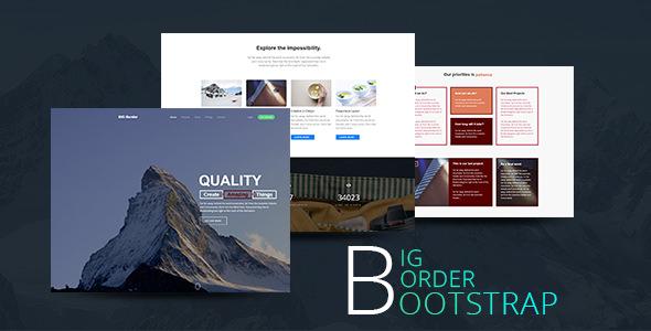 创意单页视差Bootstrap响应式模板
