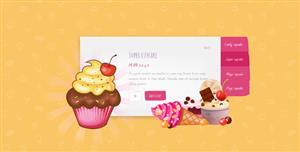 纯CSS3蛋糕甜点轮播图文切换