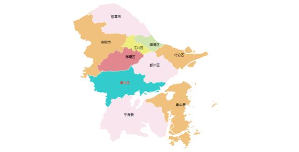 SVG绘制宁波市地图