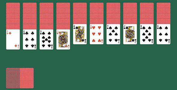 jQuery实现Windows扑克牌小游戏代码