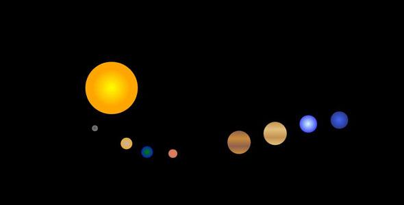 JS太阳系行星运动轨迹动画代码