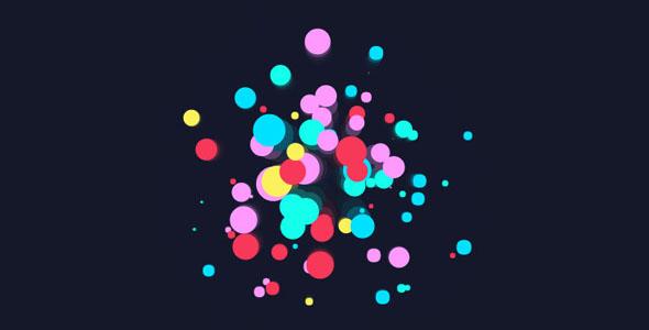 Canvas绘制彩色烟花特效代码