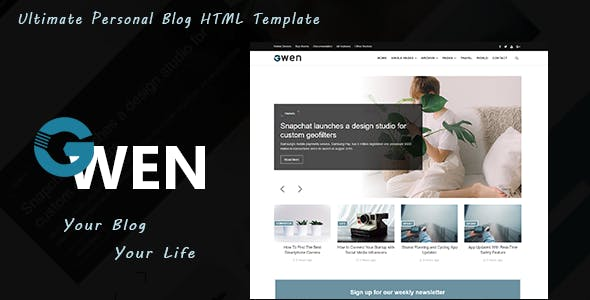 HTML博客模板Bootstrap4框架