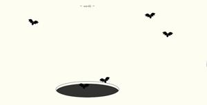 TweenMax+SVG蝙蝠飞出洞穴动画