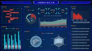 bootstrap机械大数据大屏页面模板