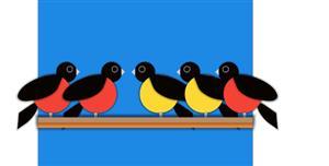 纯css3一排小鸟