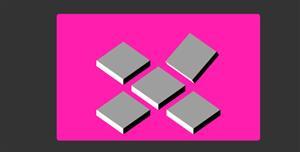 纯css3折叠方块动画