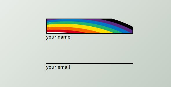 纯css3输入框彩虹鲨鱼牙齿样式