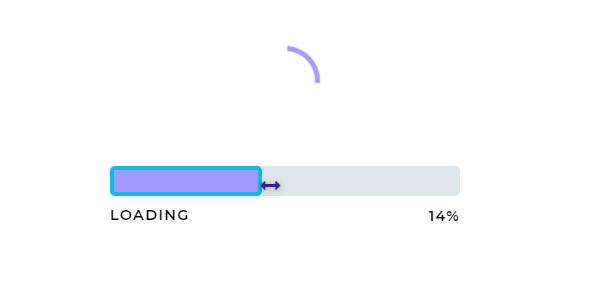 loading加载拖拽进度动画