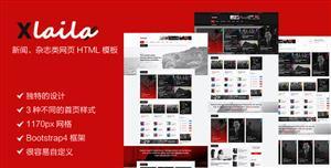响应式新闻博客网站HTML5和CSS3模板