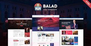 大气市政府网站HTML模板响应式页面