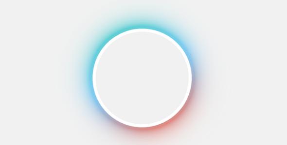 css3发光圆形边框特效