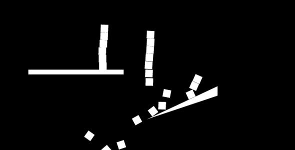 p5.js实现的散落动画特效