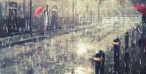 canvas逼真的下雨特效