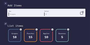 d3.js创建键值对统计效果