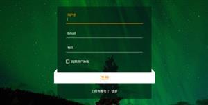徽章效果注册表单HTML模板