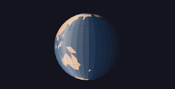 纯css3立体3d地球旋转特效