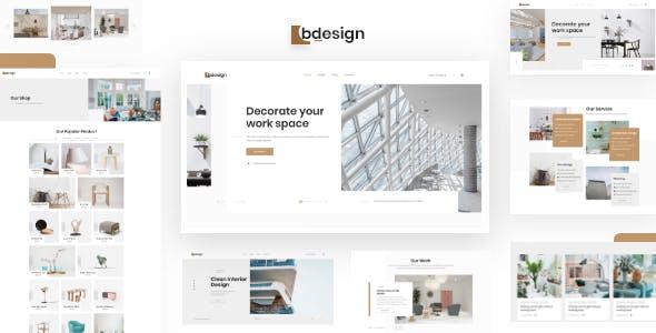 响应式建筑和室内设计HTML模板