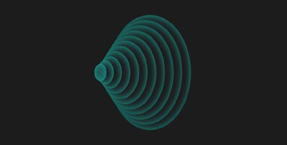 纯css3圆形波纹动画特效