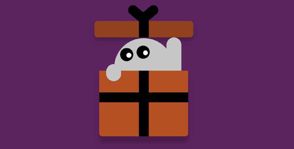 jquery万圣节礼物盒子动画特效源码下载
