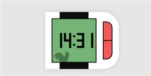 js电子手表样式