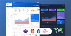 两套Bootstrap框架管理后台HTML模板