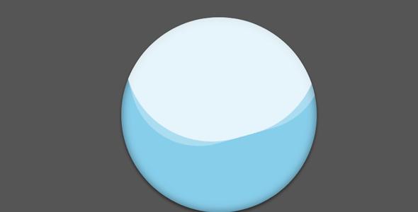纯css3球状水波动画特效
