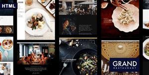 响应设计餐饮行业和美食HTML模板