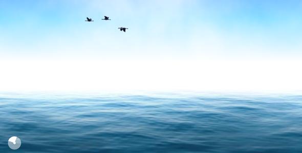 TweenMax海面海水波浪动画特效