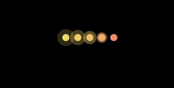 纯css3闪烁圆点loading特效