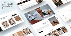 简约响应设计时尚服装商店HTML前端模板