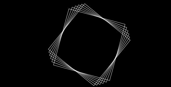 多个正方形旋转css3特效代码