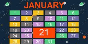 五彩样式css一月份日历样式
