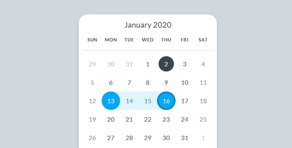 js+css3漂亮的Calendar日历UI样式源码下载