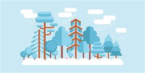 css3绘制四季变化动画特效